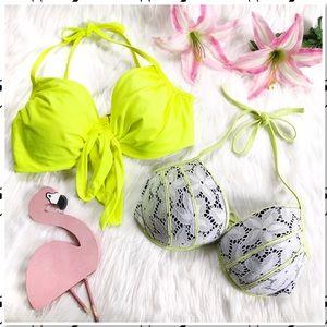 Victoria's Secret Neon Bikini Top Bundle 36DD
